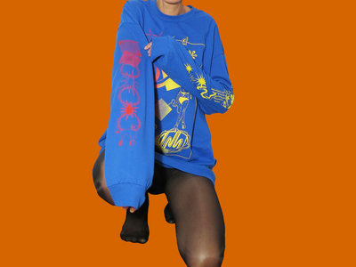 RED FADE TO YELLOW ON BLUE LONG SLEEVE main photo