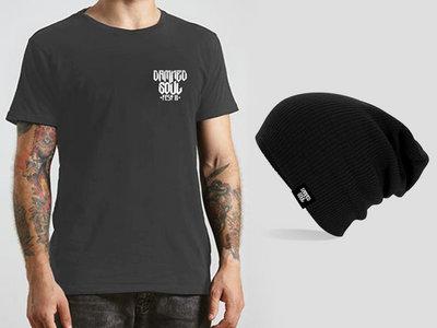 Kit T-shirt Gris Foncé + Bonnet main photo