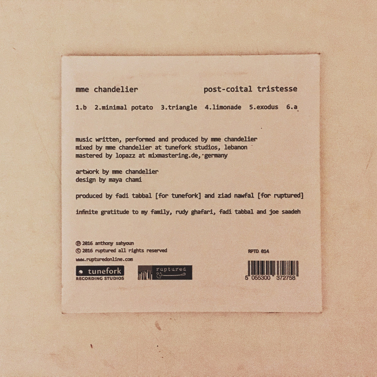 Post-Coital Tristesse | Ruptured Records