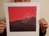 Limited Edition 'Rising Sun' single artwork print [A3] + track instant download photo