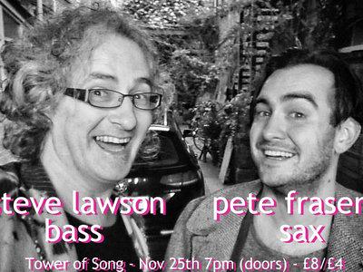 Steve Lawson and Pete Fraser gig, Birmingham, 25/11/18 main photo