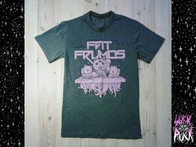 "Oliva green T-shirt  DIY ""Fat Frumos"" print main photo"