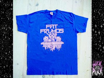 """Blue XL t-shirt  DIY """"Fat Frumos"""" print main photo"""