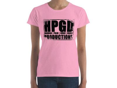 HPGD Logo Women's Fashion Fit Charity Pink T-Shirt main photo