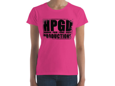 HPGD Logo Women's Fashion Fit Hot Pink T-Shirt main photo