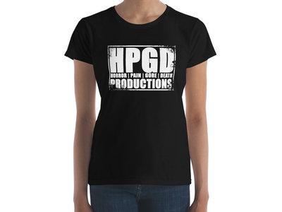 HPGD Logo Women's Fashion Fit Black T-Shirt main photo