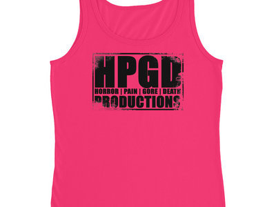 HPGD Logo Women's Missy Fit Pink Tank Top main photo