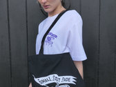 Shall Not Fade 'Knight' Tote Bag - Black / White photo