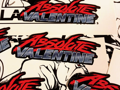 Absolute Valentine Logo Die Cut Vinyl Sticker main photo