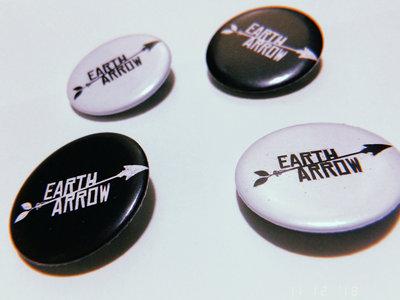 Earth Arrow Classic B&W Button main photo
