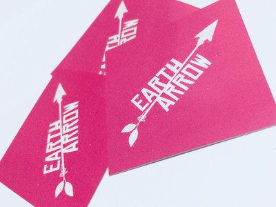 """Hot Pink Earth Arrow Logo"" Sticker main photo"