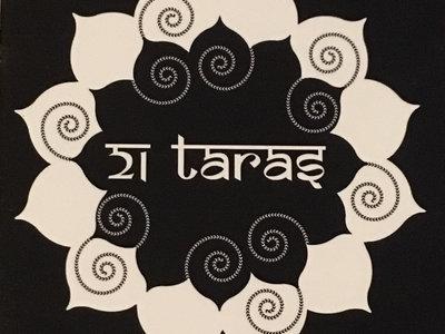 21 Taras Black & White Lotus Sticker main photo