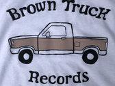 Brown Truck Tee - White photo