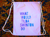 BAND NAME Gym Tote Bag, Lavender photo