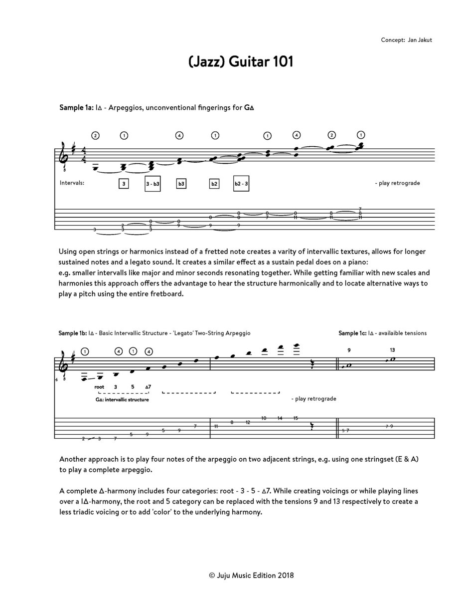 Jazz) Guitar 101 | Jan Jakut