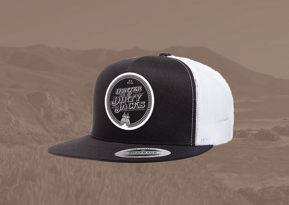 32dd5ede Owl Logo Trucker Hat - Black/White   Hunter & The Dirty Jacks