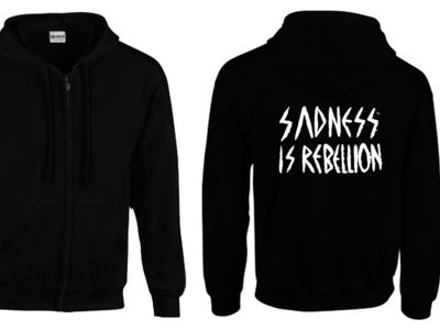 Lebanon Hanover Sadness is Rebellion Logo Zipped Hoodie (unisex) - Pre Order only til 4th august !! main photo