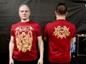 T-shirt with blazon - Burgundy photo