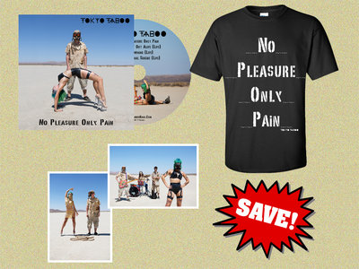 'No Pleasure Only Pain' CD Single + T-Shirt + Two Signed Art Prints main photo