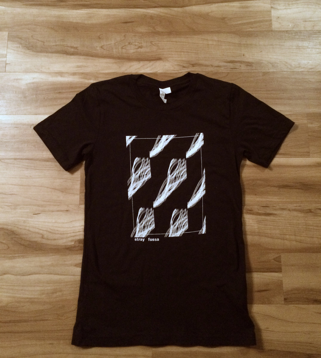 Sleeper Strip Art Screen Print T Shirt Black Stray Fossa