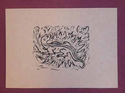 Salamander 2 - linoprint w/ B&B3 download main photo