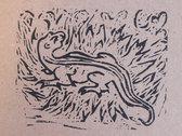 Salamander 2 - linoprint w/ B&B3 download photo