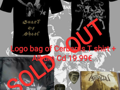 "Logo bag of ""Cerberus"" T shirt +Album Cd bundle  SOLD OUT main photo"