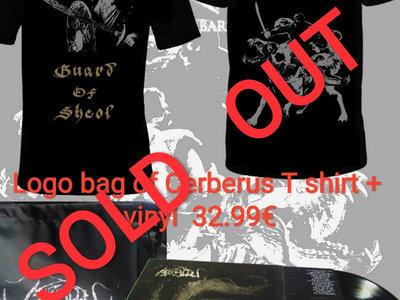"Logo bag of ""Cerberus"" T shirt + vinyl bundle  SOLD OUT main photo"