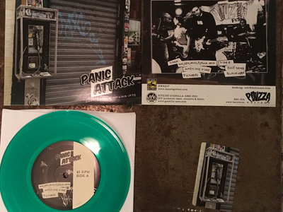 "Panic Attack - Empty Malls & Parking Lots - Green 7"" vinyl main photo"