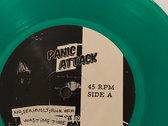 "Panic Attack - Empty Malls & Parking Lots - Green 7"" vinyl photo"