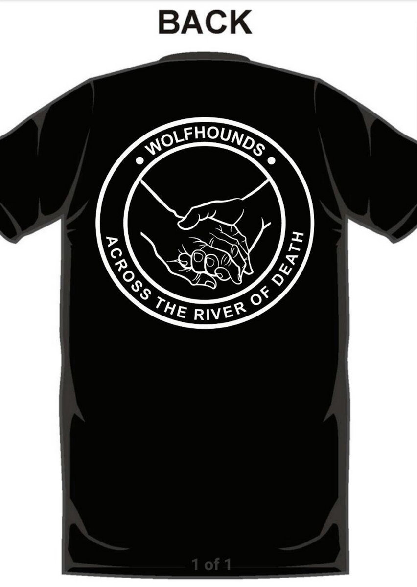 877ec6f205 Hold Hands Across The River Of Death T-shirt   The Wolfhounds