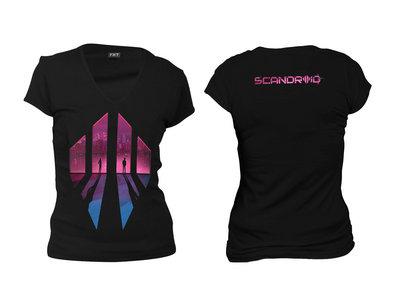 Cyberpunk Twilight Women's Deep V-Neck T-Shirt main photo
