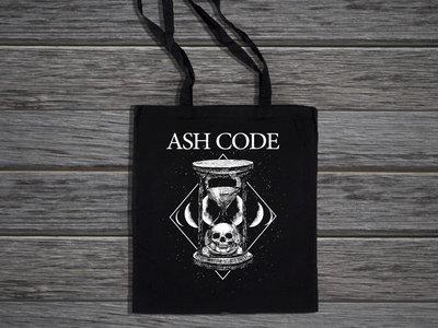 Ash Code 'Hourglass Death' Black Tote Bag main photo