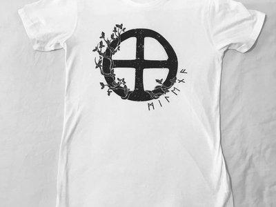 T-shirt blanc en coton bio main photo