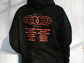 Global Hoodie (Black / Blood Orange) photo