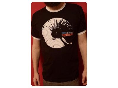 Black ringer T-shirt with white album logo main photo