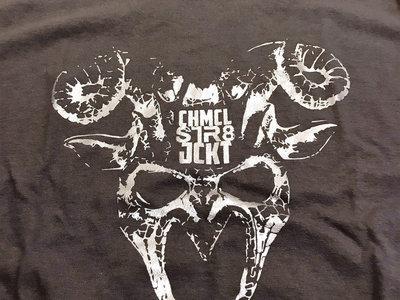 Pan Mask w/ logo Shirt.....silver on gray main photo