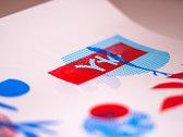 Gaijin Blues 3 colour hand-screened art print. Only 12 made! photo