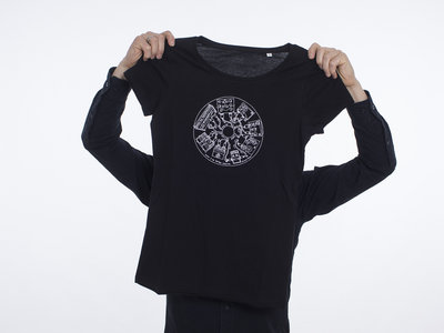 "Black T-Shirt with Silkscreen ""William & The Stompbox Collective"" Women & Kids Edition main photo"