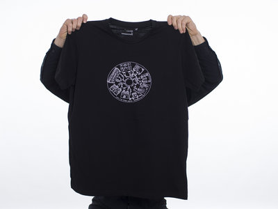 "Black T-Shirt with Silkscreen ""William & The Stompbox Collective"" Men´s edition main photo"