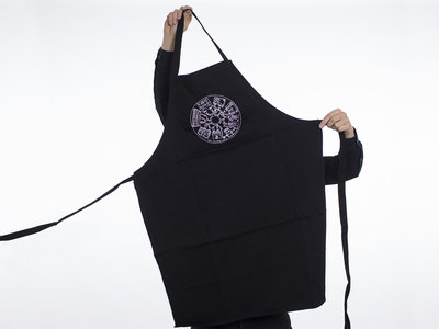 Chef Apron Black with white silkscreen William & The Stompbox Collective main photo