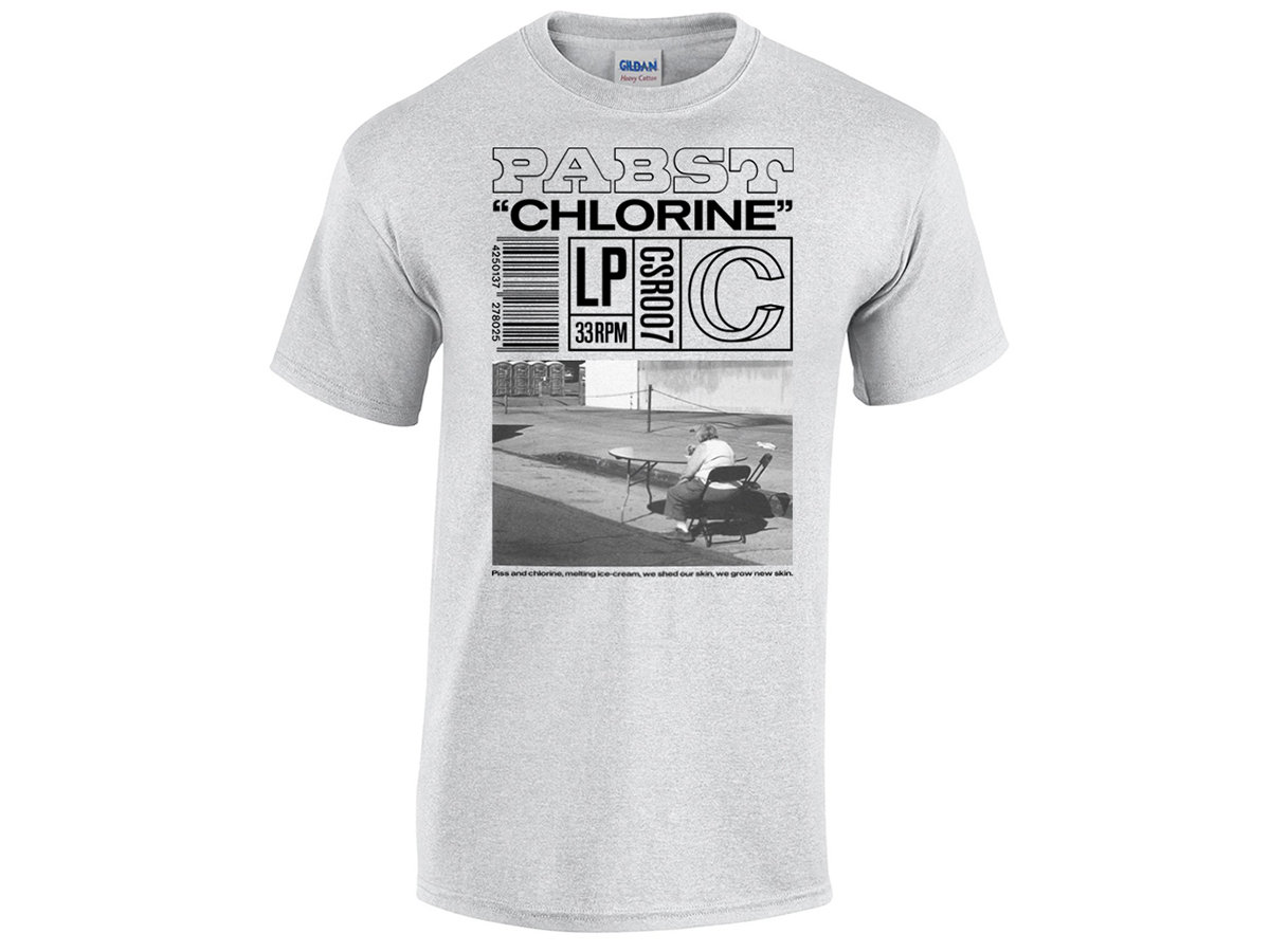 """PABST """"Chlorine"""" Shirt T-Shirt Apparel Gildan – Heavy Cotton Limited to 25  in light grey and 25 on antique cherry red. Includes unlimited streaming of  ... bf9a665b3da"""