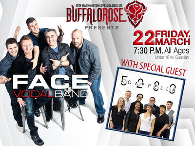 Tickets Face Vocal Band and 5280 A Cappella, Buffalo Rose Event Center, March 22, 2019, 7:30pm main photo