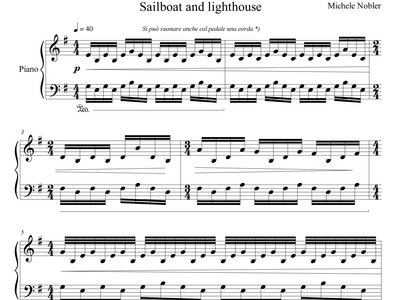 Kim's Variations II Sailboat & Lighthouse- Piano Sheet Music & Audio main photo