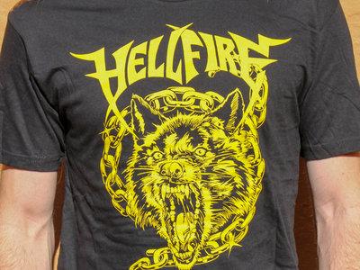 Wolf and Chains Shirt Black/Yellow main photo