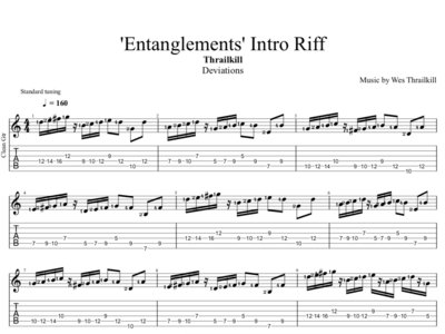 'Deviations' Intro Riff Digital Guitar Transcription main photo