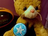 Blue Star Design Button - 5 buttons photo