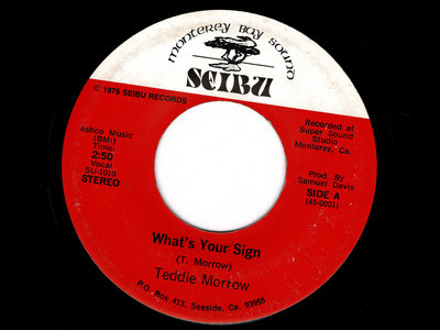 WHAT'S YOUR SIGN - TEDDIE MORROW - VG+ main photo