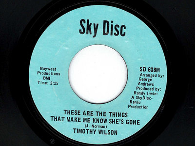 THESE ARE THE THINGS THAT MAKE ME KNOW SHE'S GONE - TIMOTHY WILSON - NM main photo