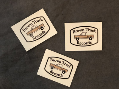 Brown Truck Stickers - Three for $2 main photo
